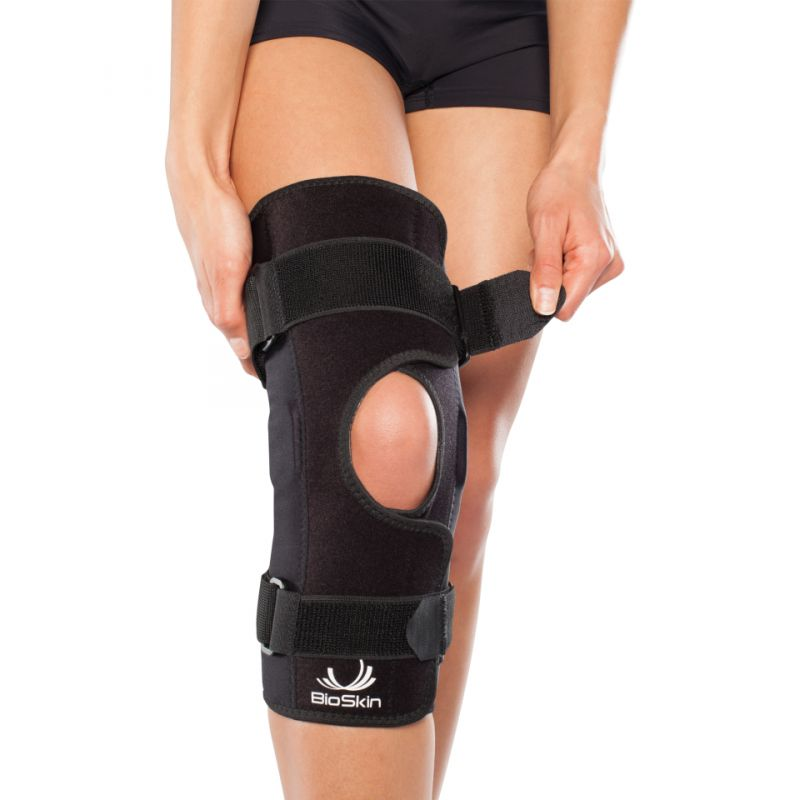 9c5ef32b6e BioSkin Hinged Knee Support with Front Closure - Think Sport